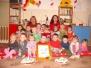 Oslava narozenin ve školce- ovečka Lůca a jeji adoptivní rodiče MŠ Sochora MOST, tř. Berušek